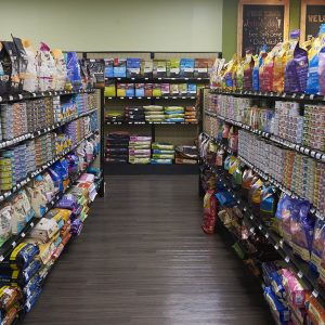 cat food aisle, Friendly Pets, Exeter, NH